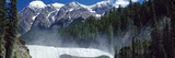 Waterfall with Mountain Range in the Background, Wapta Falls, Chancellor Peak, Yoho National Par... Photographic Print by  Panoramic Images