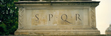 Spqr Text Carved on the Stone, Piazza Del Campidoglio, Palazzo Senatorio, Rome, Italy Photographic Print by Panoramic Images