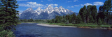 Snake River and Grand Teton WY USA Photographic Print by  Panoramic Images