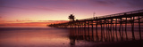 Silhouette of a Pier, San Clemente Pier, Los Angeles County, California, USA Photographic Print by  Panoramic Images