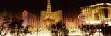 Hotels in a City Lit Up at Night, the Strip, Las Vegas, Nevada, USA Photographic Print by  Panoramic Images