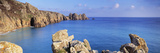 Rock Formations at Seaside, Logan Rock, Porthcurno Bay, Cornwall, England Photographic Print by Panoramic Images