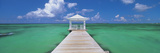 Pier in the Sea, Bahamas Photographic Print by  Panoramic Images