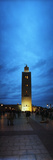 Koutoubia Mosque at Night in Marrakesh, Morocco Photographic Print by  Panoramic Images