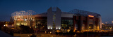 Football Stadium Lit Up at Night, Old Trafford, Greater Manchester, England Photographic Print by  Panoramic Images