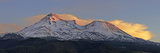 Low Angle View of a Snow Covered Mountain, Mt Shasta, Siskiyou County, California, USA Photographic Print by  Panoramic Images