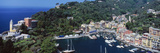 Boats at a Harbor, Portofino, Italy Photographic Print by  Panoramic Images