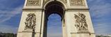 Low Angle View of a Triumphal Arch, Place Charles De Gaulle, Arc De Triomphe, Paris, Ile-De-Fran... Photographic Print by  Panoramic Images