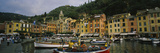 Fishing Boats at the Harbor, Portofino, Italy Stampa fotografica di Panoramic Images,