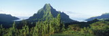Mountains at a Coast, Belvedere Point, Mont Mouaroa, Opunohu Bay, Moorea, Tahiti, French Polynesia Photographic Print by  Panoramic Images
