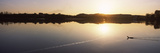 Reflection of Sun on Water, Pichlinger See, Upper Austria, Austria Photographic Print by  Panoramic Images