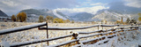 Wooden Fence Covered with Snow at the Countryside, Colorado, USA Photographic Print by  Panoramic Images