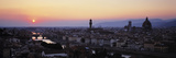 Cityscape at Dusk from Piazza Michaelangelo, Florence, Tuscany, Italy Photographic Print by  Panoramic Images