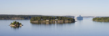 Islands View with a Cruise Ship, Stockholm Archipelago, Sweden Photographic Print by  Panoramic Images