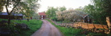 Dirt Road Leading to Farmhouses, Stensjoby, Smaland, Sweden Photographic Print by  Panoramic Images