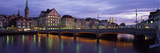 River Limmat Zurich Switzerland Photographic Print by  Panoramic Images