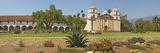 Garden in Front of a Mission, Mission Santa Barbara, Santa Barbara, Santa Barbara County, Califo... Photographic Print by  Panoramic Images