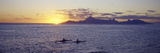 Sea at Sunset, Moorea, Tahiti, Society Islands, French Polynesia Photographic Print by  Panoramic Images