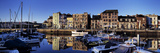Boats on a Harbor at Dawn, Barbican, Plymouth, Devon, England Photographic Print by  Panoramic Images