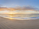 Sunrise over the Sea, Tenby, Pembrokeshire, Wales Photographic Print by  Panoramic Images