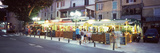 Restaurants at Roadside, Anduze, Gard, Languedoc-Roussillon, France Photographic Print by  Panoramic Images