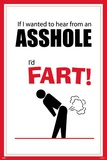 If I Wanted To Hear From An Asshole I'd Fart Funny Poster Posters