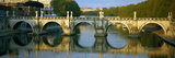 Arch Bridge across a River, Ponte Sant Angelo, Tiber River, Rome, Italy Photographic Print by  Panoramic Images