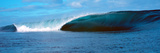 Panoramic Images - Waves Splashing in the Sea - Fotografik Baskı