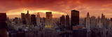 Sunset Cityscape Chicago IL USA Photographic Print by  Panoramic Images