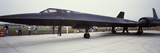 Lockheed Sr-71 Blackbird on a Runway Photographic Print by  Panoramic Images