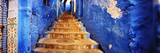 Staircases of the Medina are All Painted Blue, Chefchaouen, Morocco Fotografisk tryk af Panoramic Images