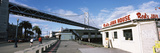 Bridge and Restaurant at the Waterfront, Bay Bridge, Embarcadero, San Francisco, California, USA Photographic Print by  Panoramic Images