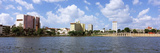 Skyscrapers at the Waterfront, Lake Mirror, Lakeland, Florida, USA Photographic Print by  Panoramic Images