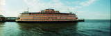Ferry in a River, Staten Island Ferry, Staten Island, New York City, New York State, USA Photographic Print by  Panoramic Images