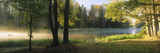 Fog over a River, Dal River, Sweden Photographic Print by  Panoramic Images