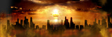 Nuclear Blast Behind City Photographic Print by  Panoramic Images