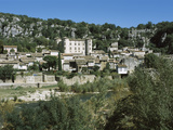 Castle on a Hill, Vogue, Massif Central, Ardeche, France Photographic Print by Panoramic Images
