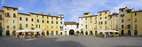 Tourists at a Town Square, Piazza Dell'Anfiteatro, Lucca, Tuscany, Italy Photographic Print by  Panoramic Images