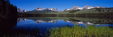 Reflection of Mountains in a Lake, Little Redfish Lake, Sawtooth National Recreation Area, Idaho... Photographic Print by  Panoramic Images