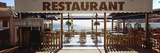 Signboard of a Restaurant, Banyuls Sur Mer, Pyrenees-Orientales, Languedoc-Roussillon, France Photographic Print by  Panoramic Images