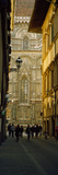 Tourists on Via Dei Servi with Florence Cathedral in the Background, Florence, Tuscany, Italy Photographic Print by  Panoramic Images