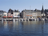 Boats Docked at a Harbor, Honfleur, Calvados, Normandy, France Photographic Print by  Panoramic Images