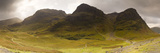 Storm Clouds over a Mountain Range, Three Sisters of Glen Coe, Glencoe, Highlands Region, Scotland Photographic Print by  Panoramic Images