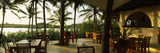 Restaurant Surrounded with Palm Trees, Pilipan Restaurant, Watamu, Coast Province, Kenya Photographic Print by  Panoramic Images