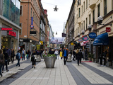 People on a Street, Drottninggatan, Stockholm, Sweden Photographic Print by  Panoramic Images