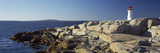 Lighthouse at the Coast, Peggy's Point Lighthouse, Peggy's Cove, Halifax Regional Municipality, ... Photographic Print by  Panoramic Images