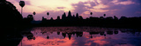 Silhouette of a Temple at Dusk, Angkor Wat, Siem Reap, Angkor, Cambodia Photographic Print by Panoramic Images