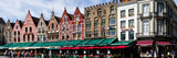 Market at a Town Square, Bruges, West Flanders, Belgium Photographic Print by  Panoramic Images