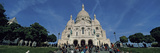 Crowd at a Basilica, Basilique Du Sacre Coeur, Montmartre, Paris, Ile-De-France, France Photographic Print by  Panoramic Images