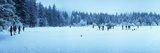 Group of People Curling on a Frozen Lake, Taferklaussee, Upper Austria, Austria Photographic Print by  Panoramic Images